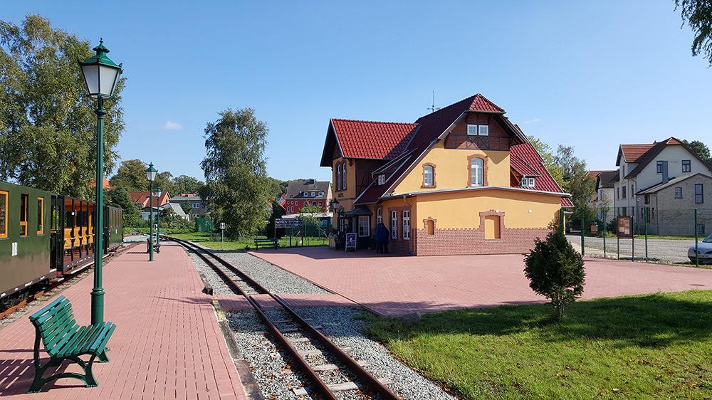 der historische Bahnhof